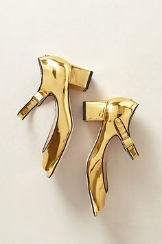 Mirrored Gold Heels-- Anthro
