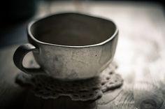 tea cup + lace