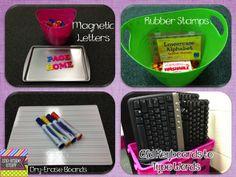Ideas for Word Work Center on 2nd Grade Stuff Blog