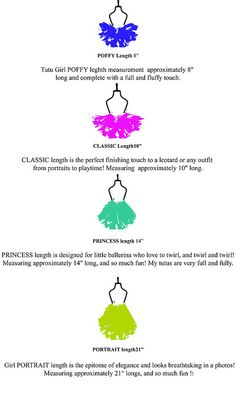 Tutu Length - Not that I'll ever really have a reason for this, but it's good to know.