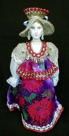 """Russian porcelain doll. """"The Merchant's wife"""""""