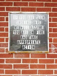 #sign #smoking