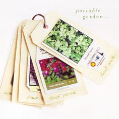 Love this idea for keeping info about your garden plants together!