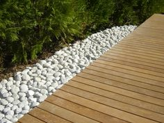 Sol ext rieur on pinterest - Terrasse galets blancs ...