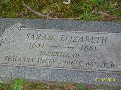 "Sarah Elizabeth McCoy ""Little Sally"" Hatfield (1881 - 1881) - Find A Grave Photos"
