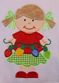 CH07 Christmas Dress Up Girls 3 Design Set 5x7 and by barbhope2, $4.99