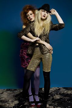 The boyfriend-girlfriend 'big mix-matching'.  Photo, styling, make-up: Paolo Prisco Photographer, Monaco  Models:Agata Pryma and Alice Rose French @Cosmic London  Clothes:Julia de Casoria, Lanvin for H, Sonia Rikyel for H, H, Zara.  Vintage and customized clothes belong to the photographer's private collection.