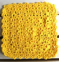 Sunny Square Crochet Dishcloth ~ free pattern