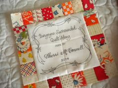 A Quilting Life - quilt label idea