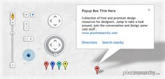 Google Map UI Free PSD