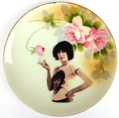 Patti Smith Portrait Plate  Altered Vintage by BeatUpCreations