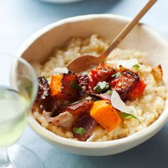 Baked Risotto with Roasted Vegetables Recipe  | Epicurious.com