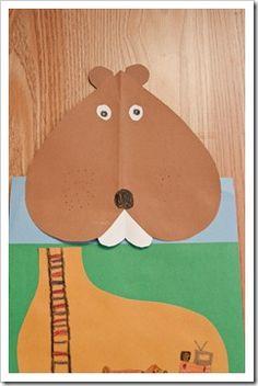 craft, school, winter prek, kid, groundhog day