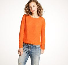 orange sequin shirt via #jcrew