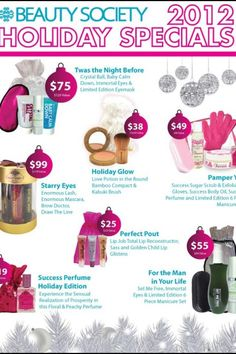 Check out the amazing specials. $38 and up.
