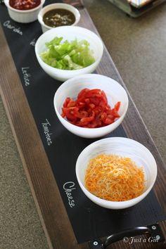#DIY Chalkboard serving tray