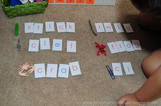 Homemade Montessori Moveable Alphabet