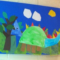 Dinosaur- Kindergarten Art (art teacher: v. giannetto)