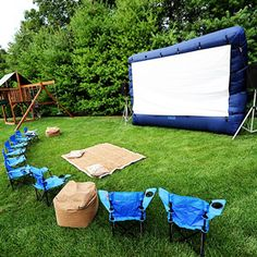 Big Screen TV for the backyard. OMG I want this. They are 200$ at Target.