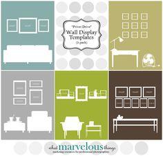 "Photo Wall Display Templates - ""Privet Drive"""