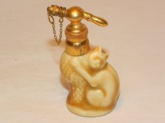 Miniature Figural Cat scent bottle marked for Charles Serpaut, Limoges, c. 1930 bottl ii, purrfect scent, perfum bottl, scent bottl, perfum scent, cat item, bottles, cat perfum, bottl mark