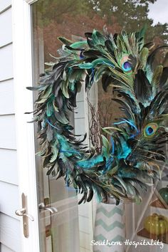 Peacock wreath // Discover your home decor personality at www.homegoods.com/stylescope