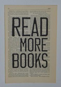 Read More Books Book Page Print. $8.00, via Etsy.