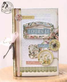 This handmade journal by @Sharon Macdonald Macdonald Macdonald Ngoo is an inspiration! So beautiful! She transformed an old book into a treasure! #graphic45 #tutorials