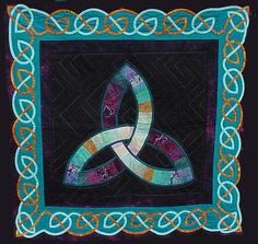 celtic designs, craft, celtic knots, quilt patterns, celtic quilt, wedding quilts, celtic inspir, mosaic, design quilt