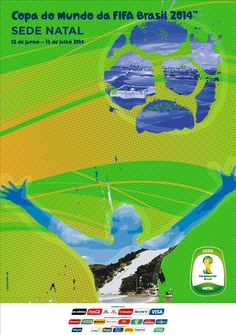 The posters of the 12 host cities of the FIFA World Cup 2014 (Brazil) - Natal