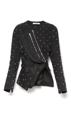 Embellished Cotton Jacket With Back Pleats by Givenchy - Moda Operandi