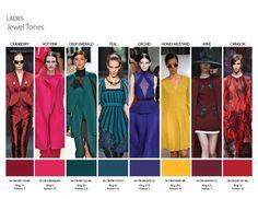Fall/Winter 2014 Color Trends - Ladies Jewel Tones