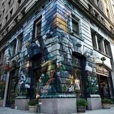 Denim & Supply presents the second installation of the #ArtWallProject  The store at 99 University Place, NYC has been covered by Colossal Media in a massive mural designed by Brooklyn's Jonathan Bartlett