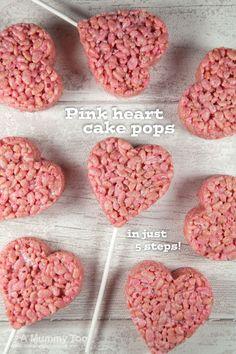 Super cute pink heart cake pops (recipe)