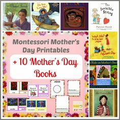 Montessori Mother's Day Printables + 10 Mother's Day Books via Montessori Nature Blog