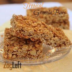 pineapples, tropic granola, homemade granola, dri pineappl, granola bars, food, walnut, granola recipes, school snacks