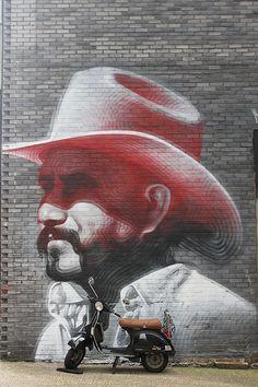 Street art by El Mac #graffiti #street #urban #art