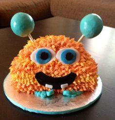 Monster themed Happy Birthday Cake