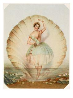 Italian ballerina Fanny Cerrito as Ondine