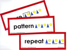 Math Vocabulary Cards: Algebra, Patterns, and Functions