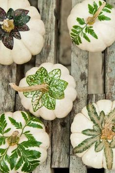 Decoupage leaf pumpk