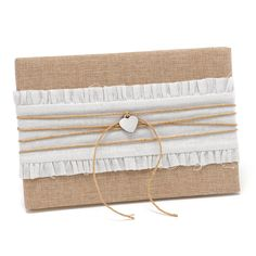 Rustic Romance Guest Book | #exclusivelyweddings | #burlap