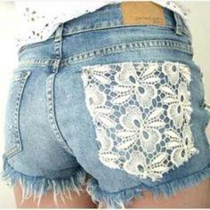 easy lace pocket DIY