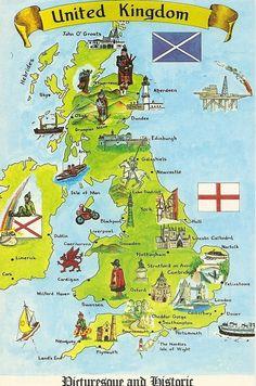 United Kingdom Illustrated Map