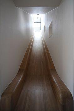 Wood Slide... Attic Playroom