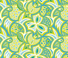 hiding_birds1 fabric by jorz on Spoonflower - custom fabric