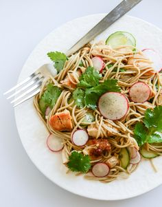 Soba Noodle Salad with Caramelized Chicken and Chili Oil