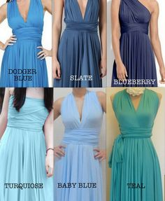 @katherinebisbee matchy dresses we can wear how ever we want for the wedding! $55 convertible dresses