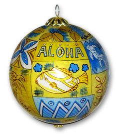 Aloha Sky Hand-painted Christmas Ornament $19.99