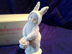 Snowbunnies A Basket of Cheer Collectible Figurine with box DEPT 56 Snowbabies | eBay